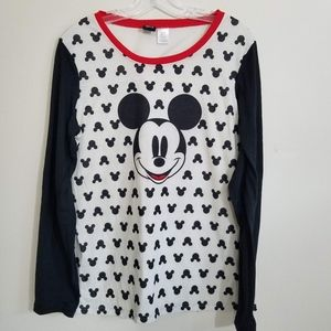 Disney Women's Mickey Mouse Raglan Baseball Shirt